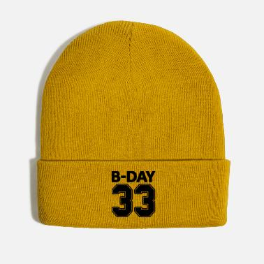 Bday 33rd birthday bday 33 number numbers jersey number - Winter Hat