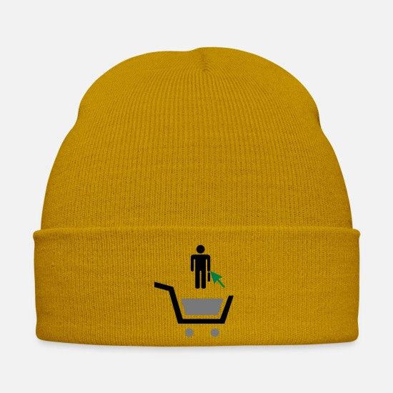 Office Caps & Hats - Buy A Consultant - Winter Hat mustard yellow