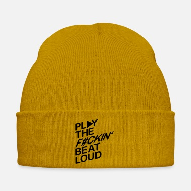 Club Music play_the_beat_loud_f1 - Winter Hat