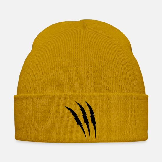 Beast Mode Caps & Hats - krallen - Winter Hat mustard yellow