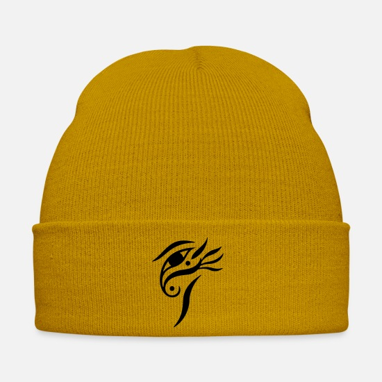 Harmony Caps & Hats - Balanced-Eye 4 (monochrome) - Winter Hat mustard yellow