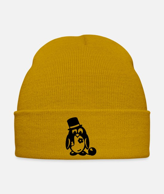 Party Caps & Hats - penguin bachelor - Winter Hat mustard yellow