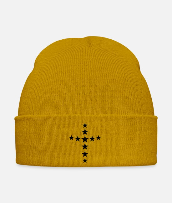 Church Caps & Hats - star cross - Winter Hat mustard yellow