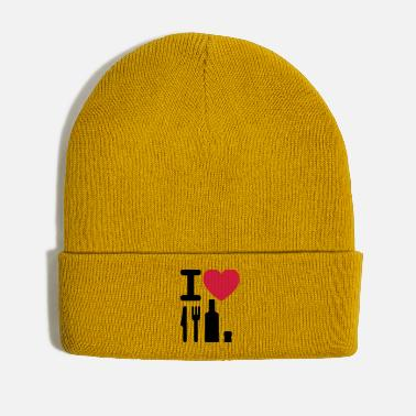 Ny I love NY knife fork bottle cork New York - Winter Hat