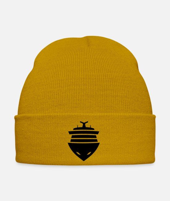 Vehicle Caps & Hats - Cruise Ship (Front View) - Winter Hat mustard yellow