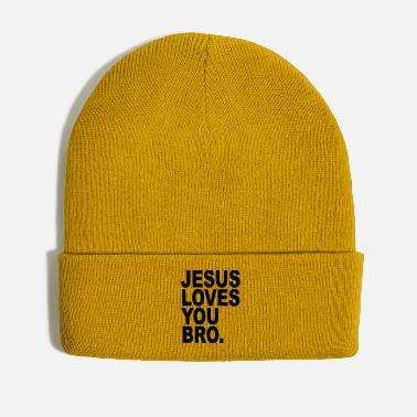 Religious Jesus loves you Bro funny religious gift - Winter Hat