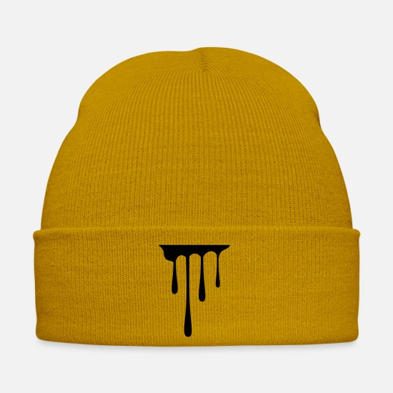 Spray Caps & Hats - drips_1 - Winter Hat mustard yellow