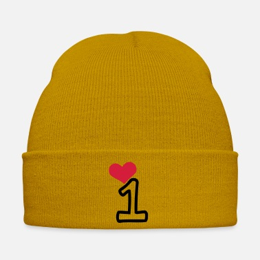 Red Heart Number 1 & red heart - Winter Hat