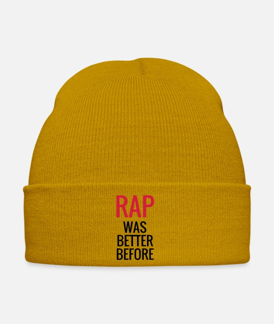 Rap Caps & Hats - Rap - Rapper - Music - Hip Hop - Blues - Jazz - Winter Hat mustard yellow
