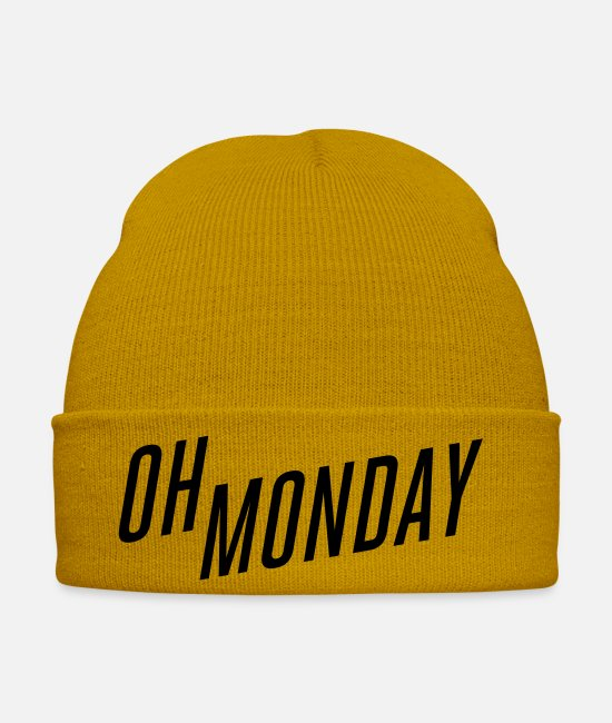 Techno Caps & Hats - oh monday - Winter Hat mustard yellow