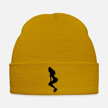Shilhouette Of Irresistibly Sexy Curvy Pole Dancer Girls With Sexy Tight Rounded Ass Vector Design ۞»♥Vector Sexy Wasp-waisted woman on Stilettos♥ - Winter Hat