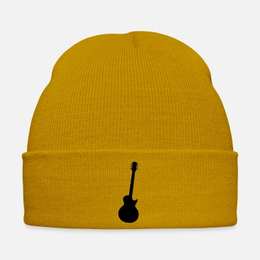Rock Face Typical Classic Rock Guitar Silhouette - Winter Hat