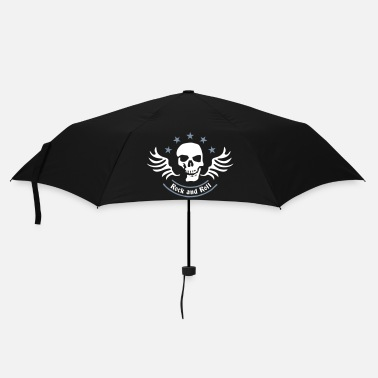 Skull rock_and_roll_skull_2c - Parapluie standard