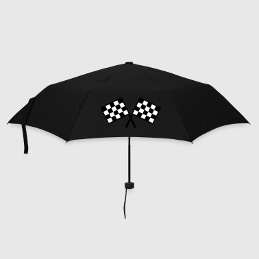 flags - car race - Umbrella (small)