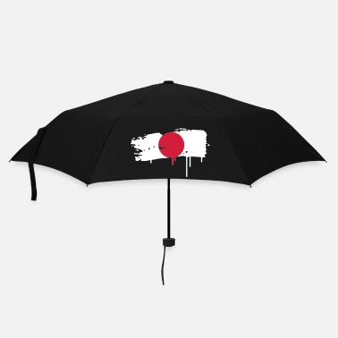 White Japanese flag painted with a brush stroke - Umbrella