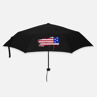 Usa Flag of the United States painted with a brush stroke  - Umbrella