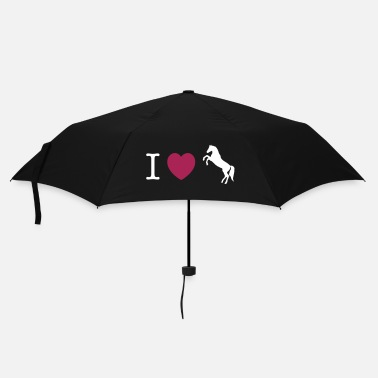Wild I love Ponies wild horse - this design lets you change all colours - Paraplu (klein)