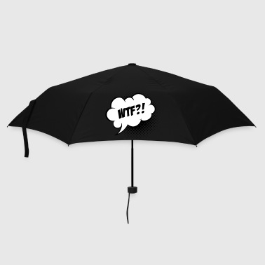 Funny What the Fuck WTF vintage comic book speech balloon slogan humour for geek bachelor t shirts - Umbrella (small)