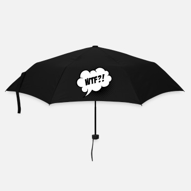 Slogan Funny What the Fuck WTF vintage comic book speech balloon slogan humour for geek bachelor t shirts - Umbrella