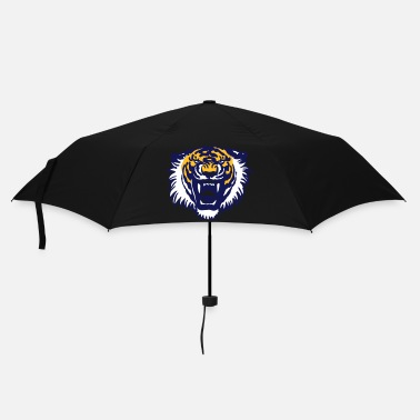 Colourful Roaring Tiger Three Colours by Cheerful Madness!! - Umbrella