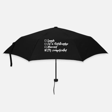 Amusant Single, in a relationship, married, complicated - Parapluie standard
