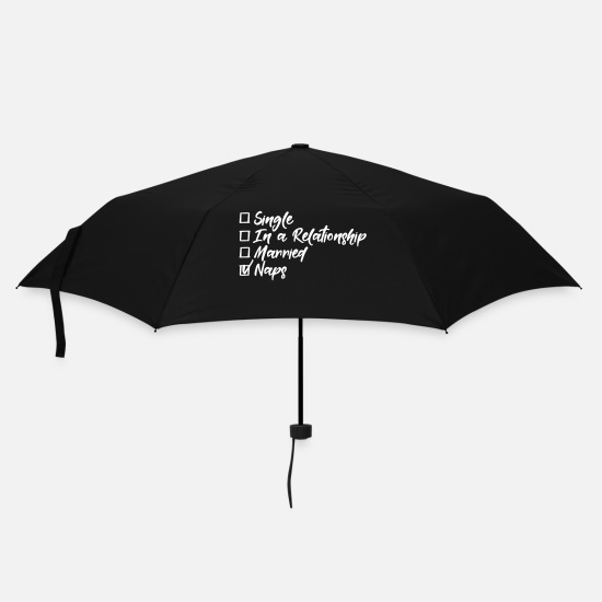 Cat Umbrellas - Single, in a relationship, Married, naps - Umbrella black