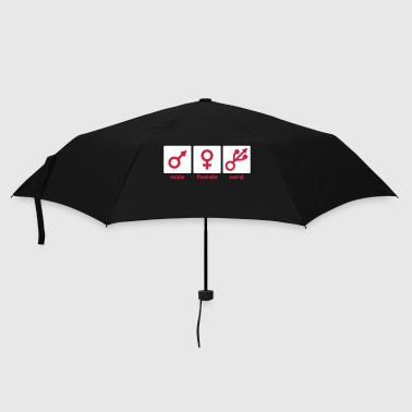 Male Female Nerd/Gamer - Umbrella (small)