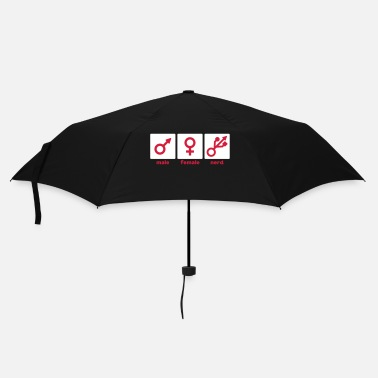Nerd Male Female Nerd/Gamer - Umbrella (small)