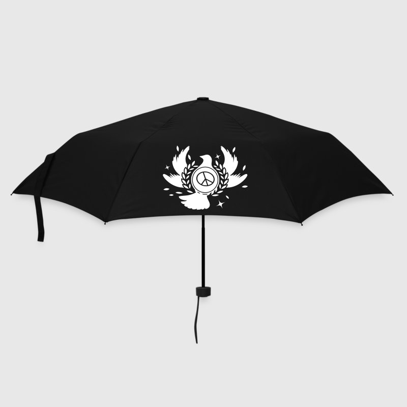 A peace dove with laurel wreath and peace sign  - Umbrella (small)