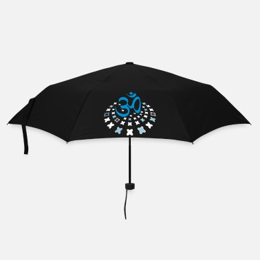 Tibetan The Om sign in the flower circle - Umbrella (small)