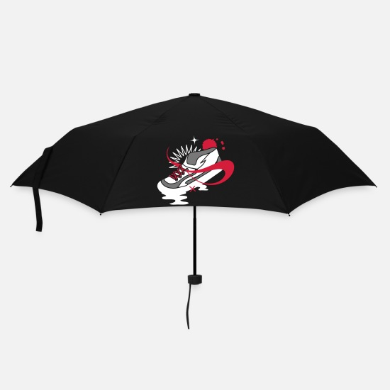 Running Umbrellas - A shoe with laces and various forms - Umbrella black