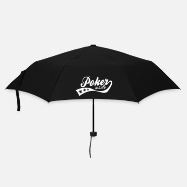 Shamrock poker is life - retro - Parapluie standard