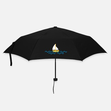 Bateau ship with waves - Parapluie standard