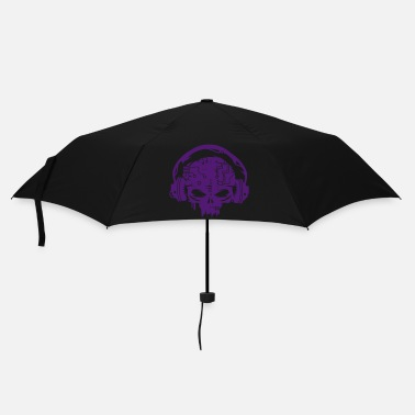 Skull Cyborg Skull with headphones - Umbrella (small)