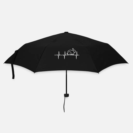 Lust Umbrellas - My heart beats for rabbits - Umbrella black