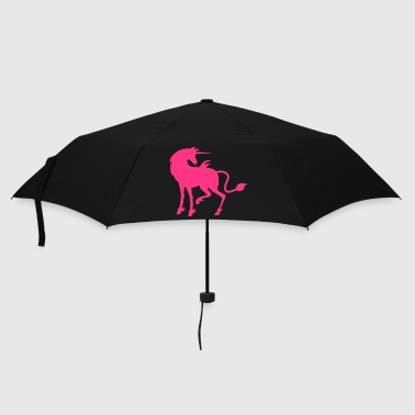beautiful pink unicorn facing right - Umbrella (small)