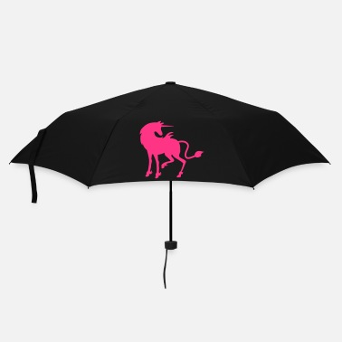 Pretty Pretty beautiful pink unicorn facing right - Umbrella