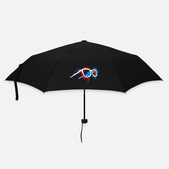 3d Umbrellas - 3D glasses in graffiti style - Umbrella black