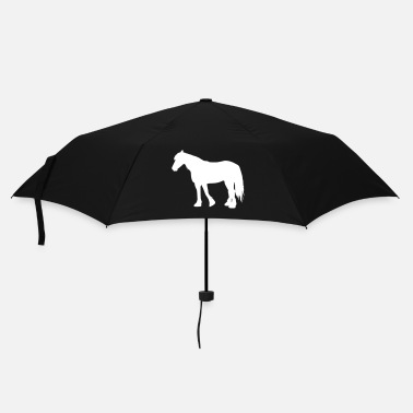 Froid chevaux de sang-froid - cold-blooded horse - Parapluie standard