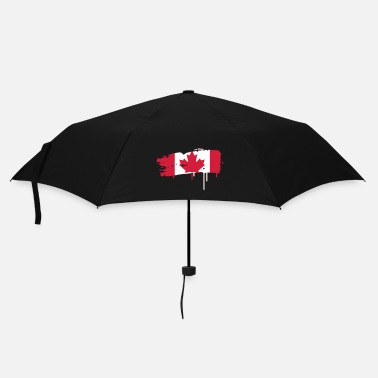 Painting painted flag of Canada  - Umbrella