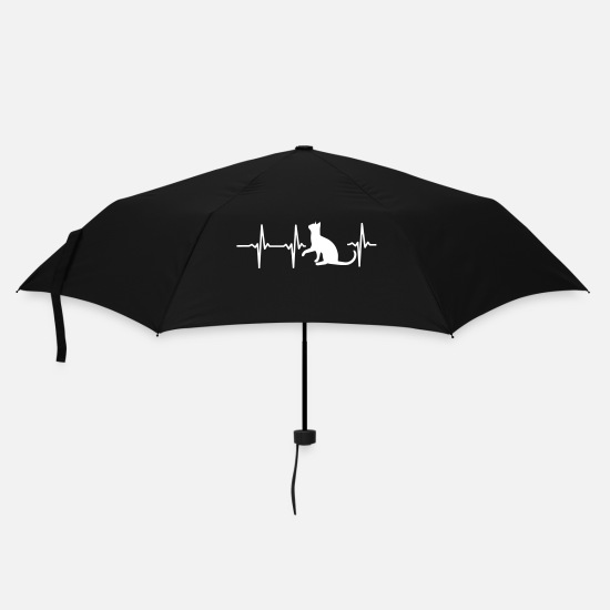 Burma Umbrellas - A HEART FOR CATS! - Umbrella black