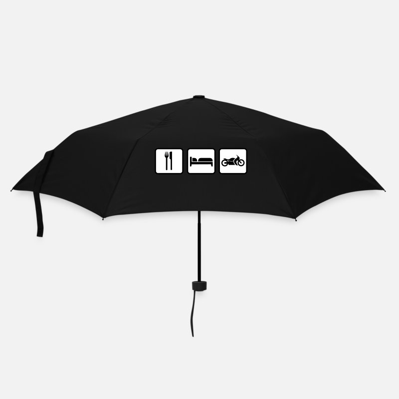 Bike Umbrellas - Eat Sleep Motorrad, Eat Sleep Bike - Umbrella black