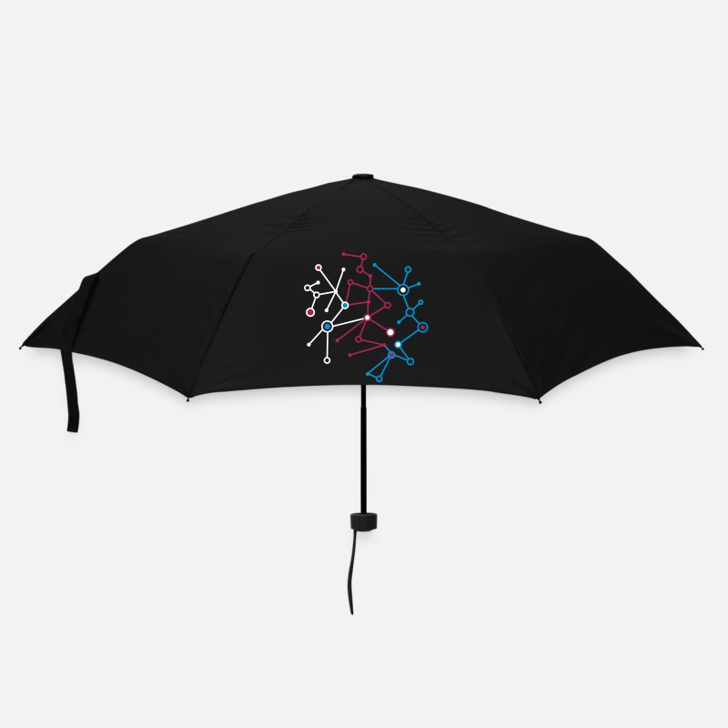 Chemistry Umbrellas - molecular pattern - Umbrella black