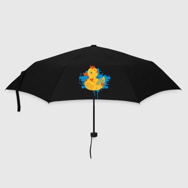 Rubber Duck A duck with a crown as a graffiti - Umbrella (small)