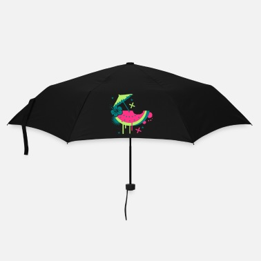 Summer Melon with cocktail umbrella and hibiscus flower - Umbrella