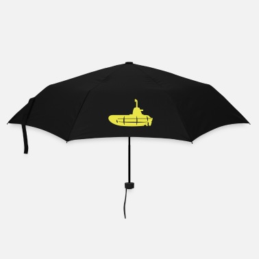 Sub 1 colour - Gelbes U-Boot schwarz - Yellow Submarine black - Paraply