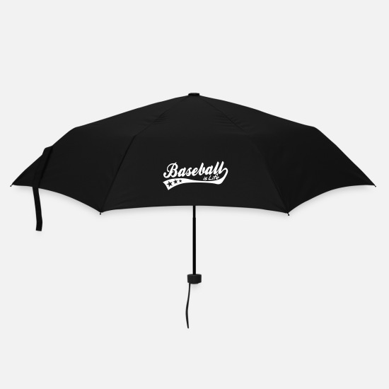 Hardball Ombrelli - baseball is life - retro - Ombrello nero