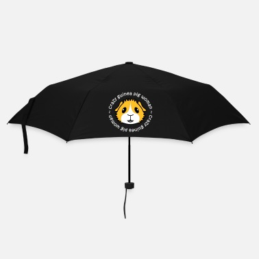 Guinea Pig Crazy Guinea Pig Woman (white text) - Umbrella (small)