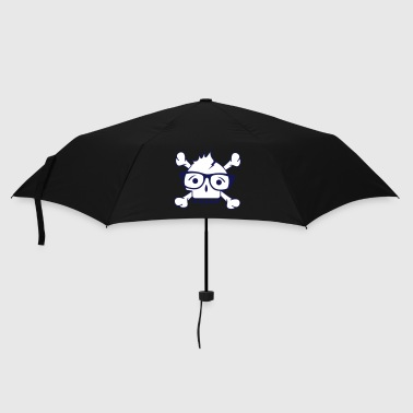 A skull with nerd glasses and braces - Umbrella (small)