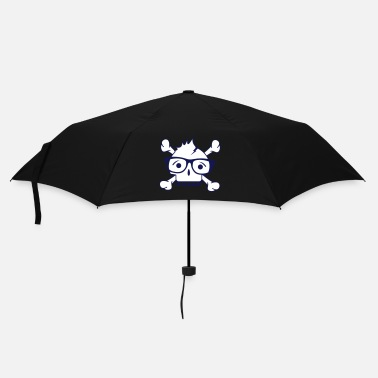 Glass A skull with nerd glasses and braces - Umbrella (small)